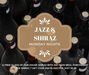 Who loves Jazz & Shiraz while enjoying your meal.