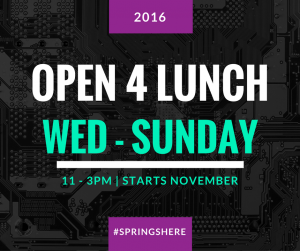 We listened to you and extended our lunch open days. Just for you.